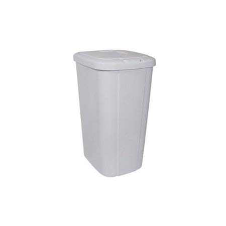 Lightweight and Durable Hefty Trash Can 13 Gallon (Touch-Lid-White, 1 Pack)