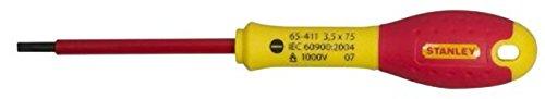 Stanley Destornillador FatMax Plana 3,5 X 75 mm 0-65-411, Rojo, 3.5X75mm