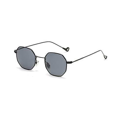 FEINENGSHUAI Taiyj Gafas de sol cuadradas polarizadas retro marco de metal, adecuado para actividades al aire libre, tales como compras, viajes, costa