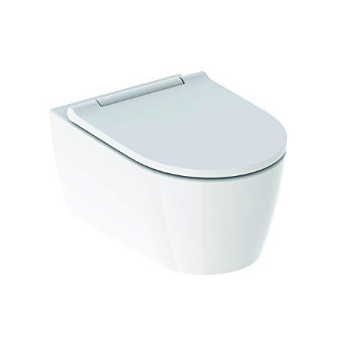 Geberit One WC encastré Mural, TurboFlush, avec siège WC et mécanisme de Fermeture en Douceur, Coloris: Blanc-Alpin - 500.201.01.1