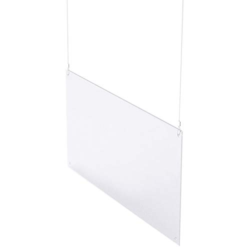 Sneeze Guard Plexiglass Shield & Barrier Hanging Clear Acrylic Ceiling Mounted Screen Sneeze Guard to Suspend from The Ceiling Easy to Install Customizable (Size : 36x24)