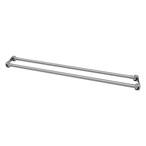 Naiture 60'' Stainless Steel Double Straight Shower Curtain Rod, Brushed Nickel Finish