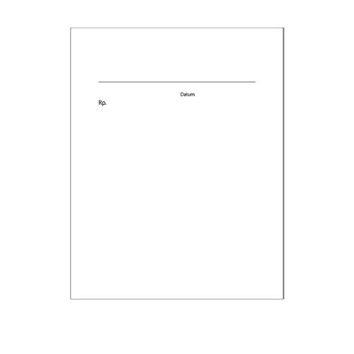 10er Set Privat-Rezepte für Ärzte I DIN A6 I 50 Blatt Rezept-Block blanko neutral zum Abreißen I dv_661