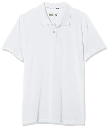 MUSTANG Herren Alex Pc Polo Poloshirt, Weiß (General White 2045), Large