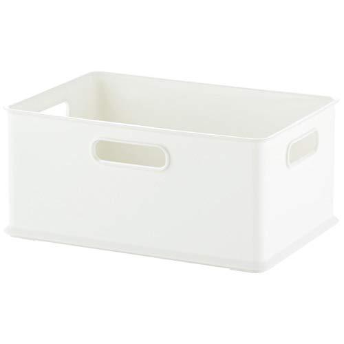 サンカ 収納ボックス Sサイズ ホワイト色 (幅264×奥行192×高さ120) squ+ インボックス SQB-S-WH 日本製