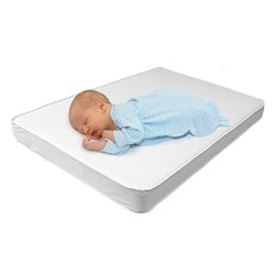 Baby Cradle Mattress with Waterproof Top - Premium Quality Firm Breathable Foam - Fits 18x36 Baby Crib