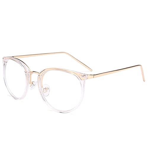 ShSnnwrl Gafas Sol De Hombre Mujer Polarizadas Sunglasses Gafas De Gato Transparentes Montura De Moda para Mujer Gafas Falsas Monturas Ópt