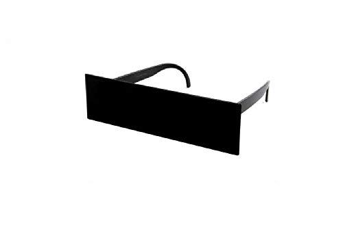 Sonnenscheinschuhe® Fun Brille Spaßbrille Zensur Schwarzer Balken Balkenbrille Partybrille Unerkannt