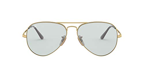 Ray-Ban Aviator Metal II Gafas de lectura, Gold, 55 Unisex Adulto