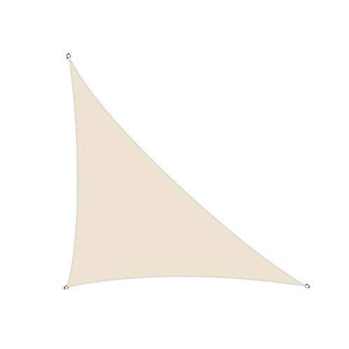 CH-GTJ Toldo Vela De Sombra Triángulo Rectángulo,98% UV Bloqueo Impermeable Toldo Vela De Sombra, Comercial Y Residencial, para Patio Patio Pergola,Light Beige,3X4X5m