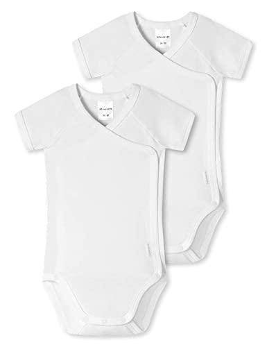 Schiesser Baby 0/0 Arm Bodies 2 Pack Conjunto de Ropa Interior para bebés y niños pequeños, Blanco, 3 Mes Unisex bebé