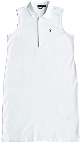 Ralph Lauren Polo Polokleid Gr. M, Kleid mit blauem Reiter, White