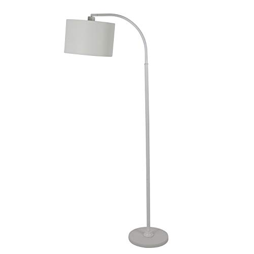 """60"""" Asher Arc Floor Lamp White - Decor Therapy"""