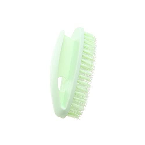 Lpiotyuxs Cepillo Los cepillos de Limpieza de cerdas de plástico para el hogar, utilizadas para bañeras y Azulejos, no lastiman Las Manos y es fácil de almacenar (Color : Green)