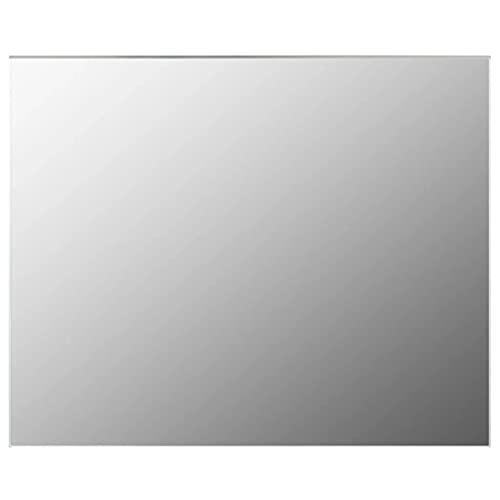 vidaXL Espejo sin Marco para Maquillaje de Cuatro Baño Rectangular Decoración Hogar Oficina Dormitorio Adhesivos de Mural Vidrio 100x60cm