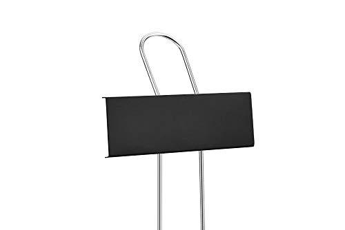 25 Stück Pflanzenschilder aus Kupfer, Pflanzenstecker aus Metall, Garten Pflanzen Etiketten Schilder zum Aufhängen (Schwarz - Metall)