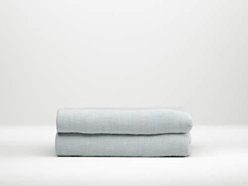 Zo!Home Hoeslaken Lino Split, Topper 180X210, 220+12 Cm, Mint Groen