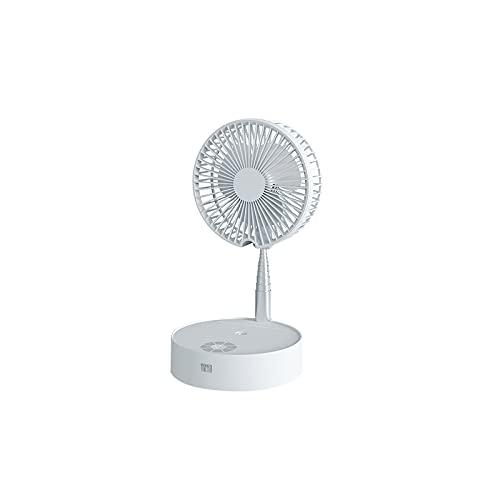 Verdelif Ventilador telescópico, 7200 mAh, multifuncional, ajustable, con control remoto, humidificación, ventilador de refrigeración, luz nocturna, lámpara de mesa para el hogar, la escuela