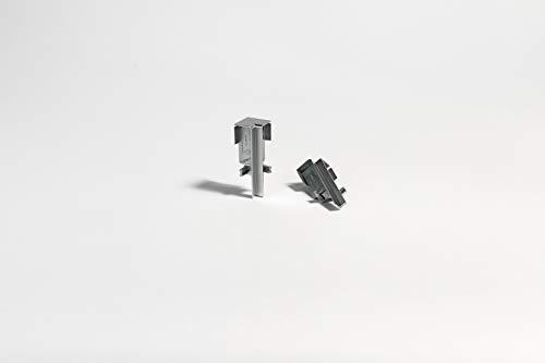 Parador Innenecke höhenvariabel - abschließende Kappe für Sockelleisten - Alu-Optik - Typ SL 3/5/6/18