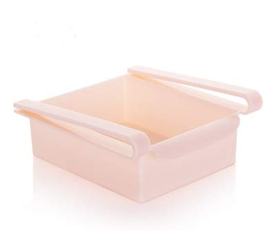 Luoshan 2 STÜCKE Multifunktions Küche Kühlschrank Lagerregal Kühlschrank Gefrierschrank Regal Halter Schublade Organizer (Blau) (Color : Pink)