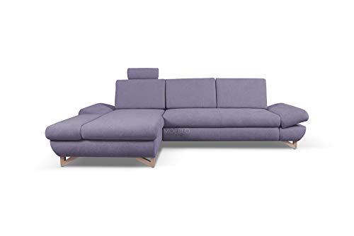Canapé d'angle Tissu Moderne Confort Violet