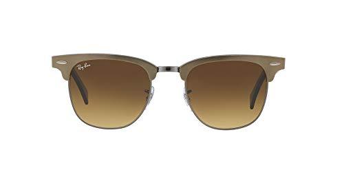 Ray-Ban Clubmaster Aluminium occhiali da sole, BRUSHED BRONZE/GUNMETAL, 21 mm Unisex-Adulto