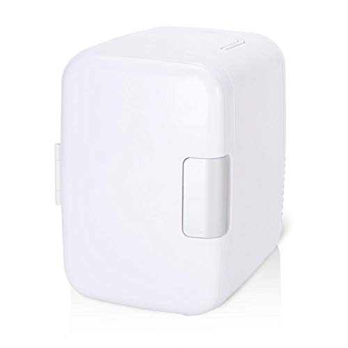 KIMISS Mini refrigerador y Calentador eléctrico (4 litros / 6 latas) Sistema termoeléctrico para automóvil(Blanco)