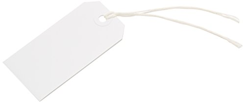 Merit White Strung Tag 96x48mm (Pack 75)