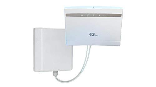 Octofibre Super Package Internet - Router 4G con antena 4G direccional - Compatible con todos los operadores - Box 4G - Configuración muy sencilla