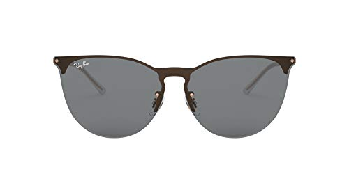 RB3652 Erika Shield Metal Sunglasses, Rubber COPPER/DARK Grey, 41 mm