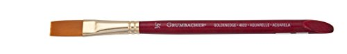 Grumbacher Goldenedge Golden Toray Aquarell Watercolor Brush, Synthetic Bristles, Size 1/2' (4622.050)