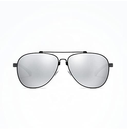 ODNJEMSD Las Nuevas Gafas De Sol De Los Hombres Polarizan Las Gafas De Sol Uv400 De Aluminio De Color Magnesio De La Memoria De La Pierna Gafas De Sol De Grandes Gafas De Marco Deslumbrante Serie