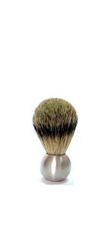 Golddachs scheerpenseel aluminium kogelflits, 100% spattend haar.