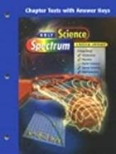 Science Spectrum Physics: Chapter Tests with Answer Key