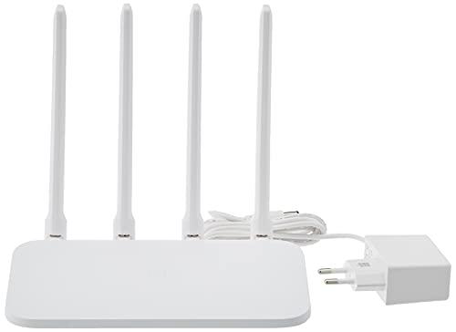 Xiaomi Mi Router 4C, Wi-Fi 2.4G Hz, Fino a 300 Mbps, 64 MB di Memoria, 4 Antenne Esterne, Collegamento Fino a 64 Dispositivi, Controllo con App, Versione Italiana, Bianco