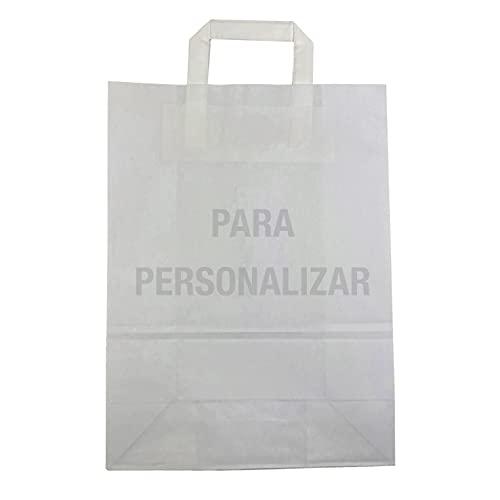 Paperafero - Bolsas de Papel con Asas Personalizadas - Impresas a Color con tu Diseño. Bolsas de Papel para Regalos - Fiesta - Bodas - Aniversario - Take Away etc. Biodegradables