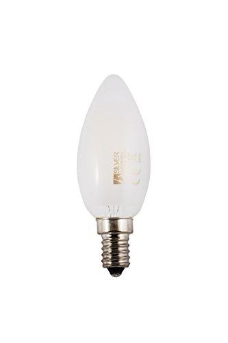 Silver Electronics Filament LED 5000 K E14, 3 W, Blanc, 3 X 3.5 X 9.7 cm