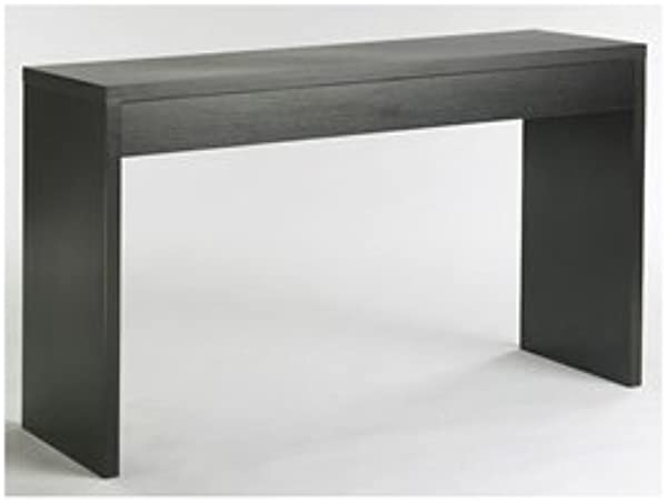 LordBee Contemporary Chic Modern Espresso Black Wood Grain Sofa Table Living Room Console Table Long Lasting Durable Sturdy Nice Working Area Kid