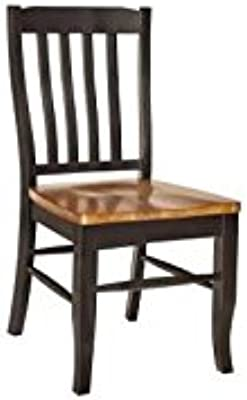 Twain Side Chair in Harvest and Black Finish