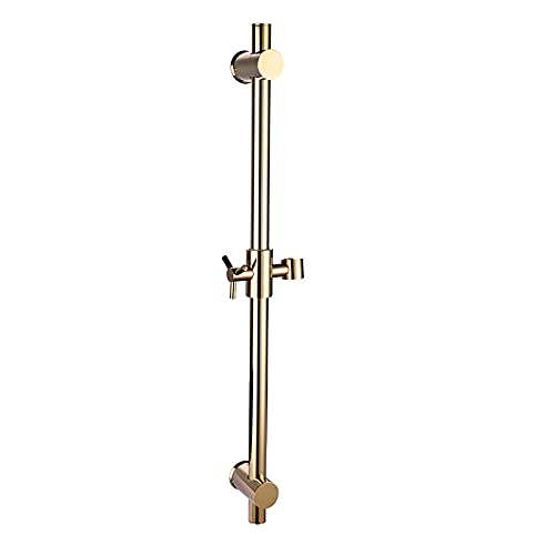 WECDS Barra di scorrimento per doccia regolabile Barra di scorrimento per doccia in ottone Montata a parete Barra di scorrimento per doccia in Oro con supporto per soffione doccia regolabile