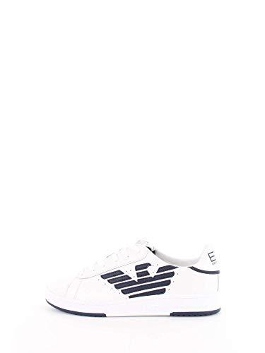 Emporio Armani EA7 Millenium U Sneaker Herren Weiss - 40 - Sneaker Low