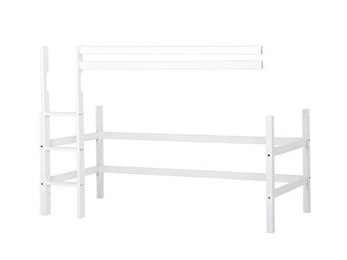 Hoppekids Basic Mittelhohes Modul, Kiefer massiv, Weiss, 90x200