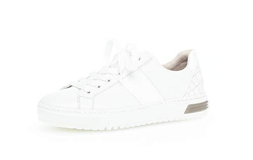 Gabor Zapatillas deportivas para mujer, plantilla suelta, cómodas y de ancho alto, color Blanco, talla 36 EU Weit