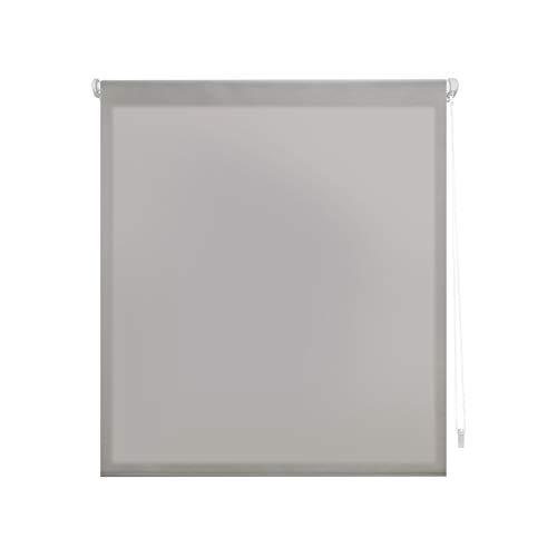 Blindecor Liso - Aure SIN HERRAMIENTAS, Estor enrollable Traslúcido, gris plata, 107 x 180 cm (ancho x alto)
