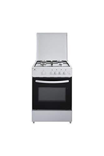 CONTINENTAL EDISON Cuisiniere gaz, four gaz 65L, éclairage,largeur 60 x hauteur 85 cm, BLANC