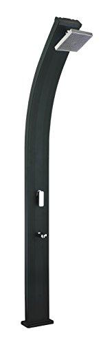 Steinbach Solardusche Slim Line Deluxe, Alutank 24 l, 225 cm Höhe, schwarz, 049045