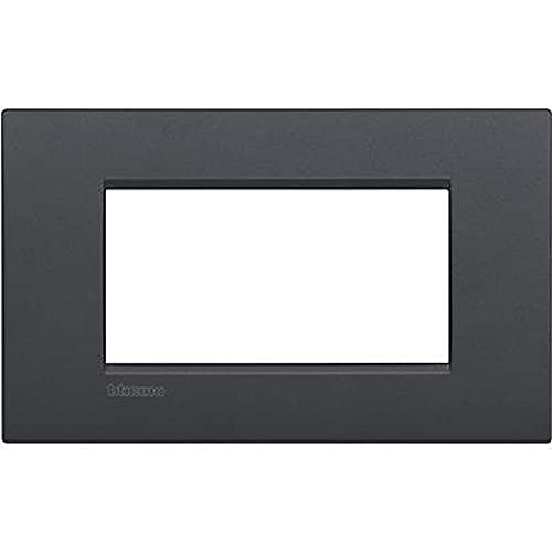 Bticino LNC4804AR Placca Livinglight Air 4 Moduli, Antracite