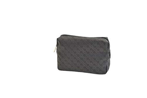 Gherardini - Porta todo cosmético grande cerrado con cremallera negra GH 0433