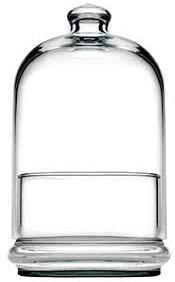 Topkapi 96699 Midi Patisserie mit Haube, Höhe 19,5 cm, für Kuchen/Gebäck, 2-teilig aus Glas