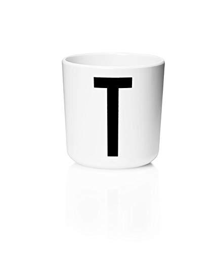 Design Letters - Melamin Becher - Buchstabe: T - Multifunktionsbecher - Arne Jacobsen